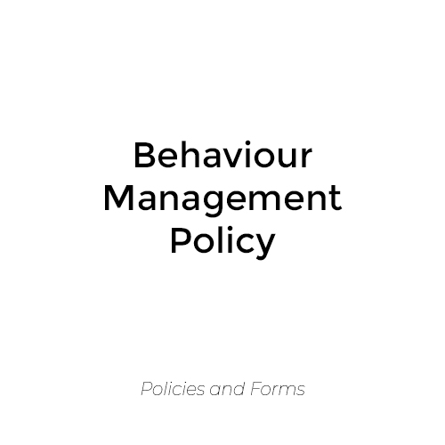 Behaviour Management Policy