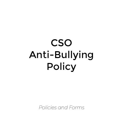 CSO Anti-Bullying Policy