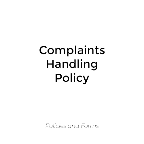 Complaints Handling Policy