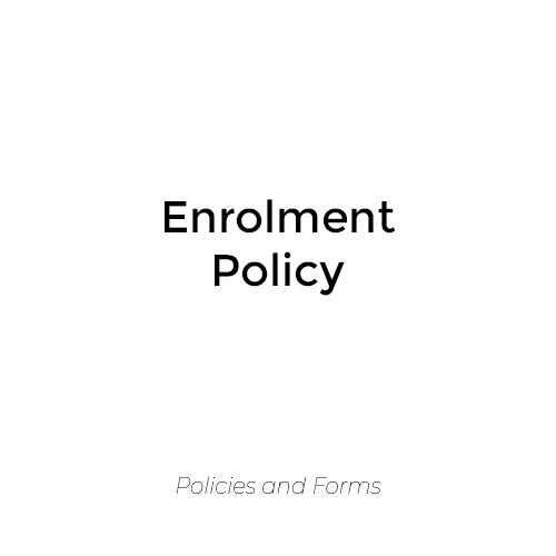 Enrolment Policy