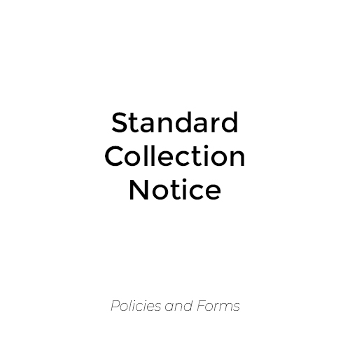 Standard Collection Notice